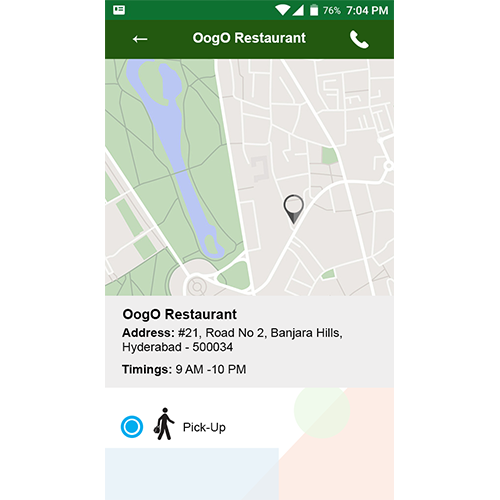 Mobile Order taking app for Restaurants